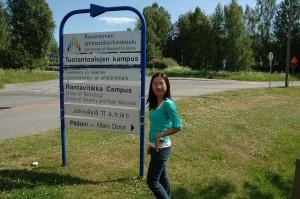 Đại diện Edulinks tại truờng ĐH Rovaniemi Phần Lan