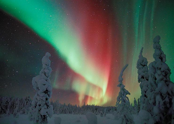 Vừng sáng cực bắc (revontulet) Lapland Phần Lan