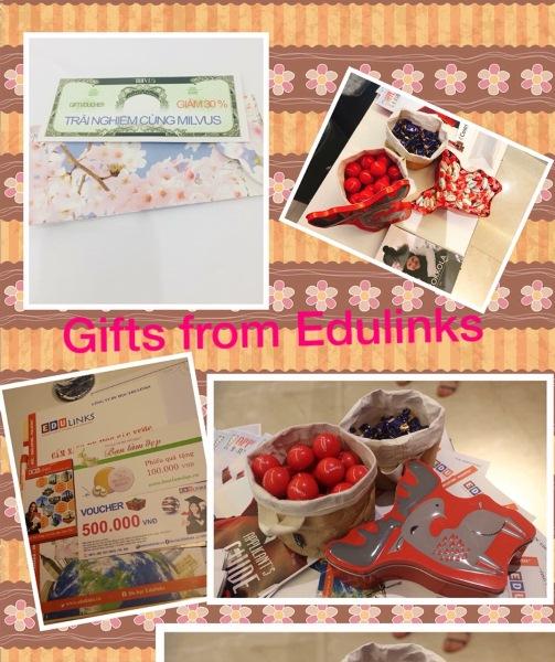 Nhưng món quà Edulinks và trường Centria chuẩn bị để tặng các các quý phụ huynh và các bạn học sinh, sinh viên dự hội thảo