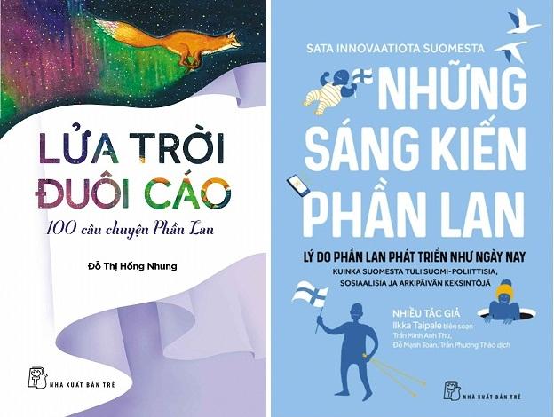 """Các bạn học sinh ký hợp đồng du học Phần Lan trong tuần lễ này sẽ được tặng một trong 2 cuốn sách """"Những sáng kiến Phần Lan"""" hoặc Lửa trời đuôi cáo -100 cầu chuyện Phần Lan"""""""